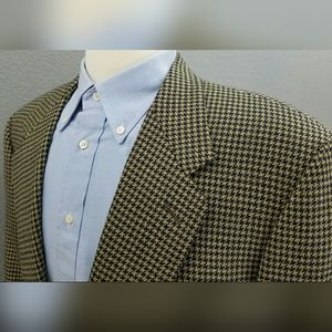 CANALI Barney's NY Houndstooth Wool Sport Coat 42L
